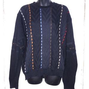 Modango Vintage Black Men's Sweater Italy Large